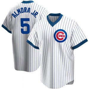 Albert Almora Jr. Chicago Cubs Youth Replica Home Cooperstown Collection Jersey - White