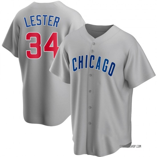 Jon Lester Chicago Cubs Youth Replica Road Jersey - Gray
