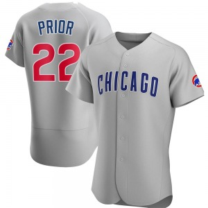 Mark Prior Chicago Cubs Authentic Road Jersey - Gray